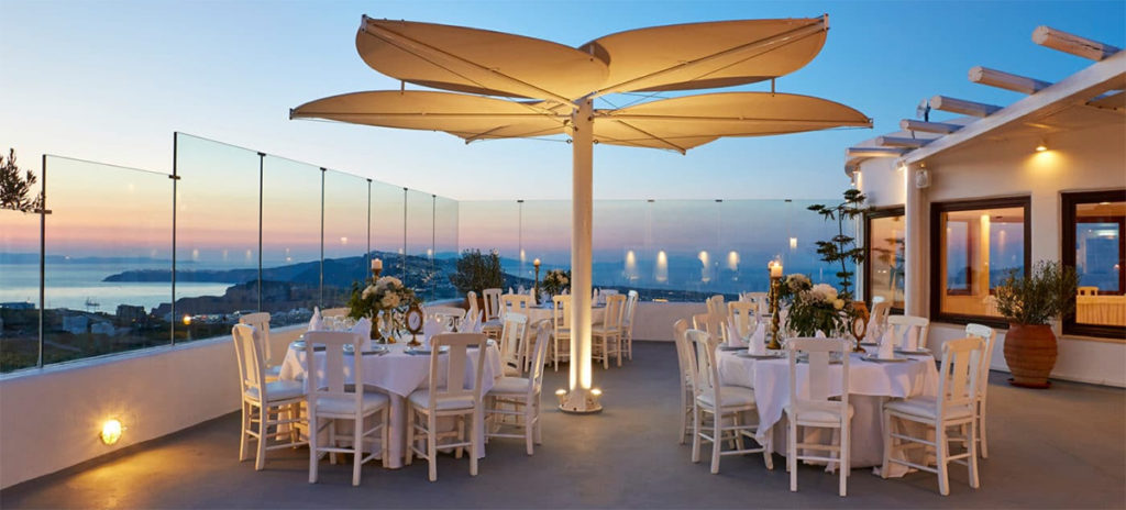 Pyrgos restaurant santorini all inclusive wedding packages