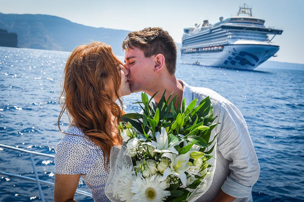 santorini boat proposal