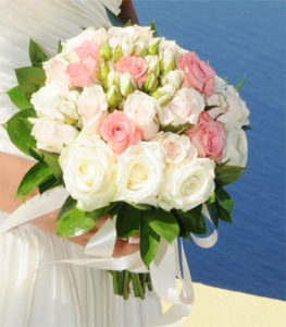 Santorini Bridal flowers