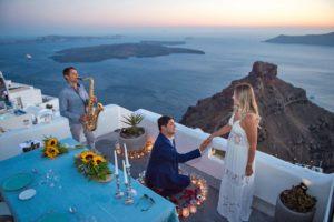 santorini dinner proposal