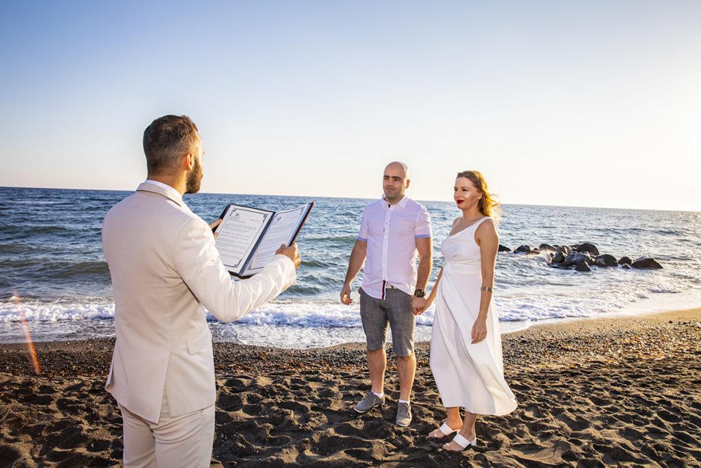 santorini beach wedding