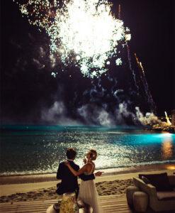 Wedding Fireworks Santorini